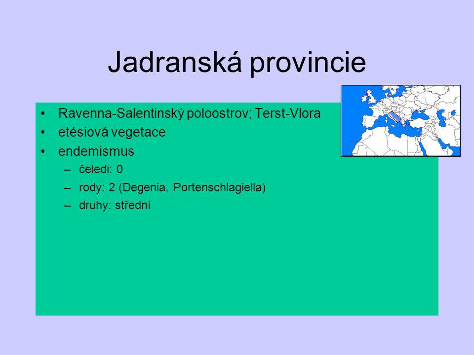 Jadranská provincie Ravenna-Salentinský poloostrov; Terst-Vlora