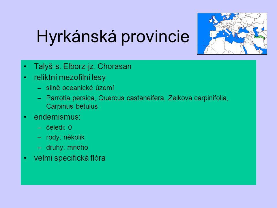 Hyrkánská provincie Talyš-s. Elborz-jz. Chorasan