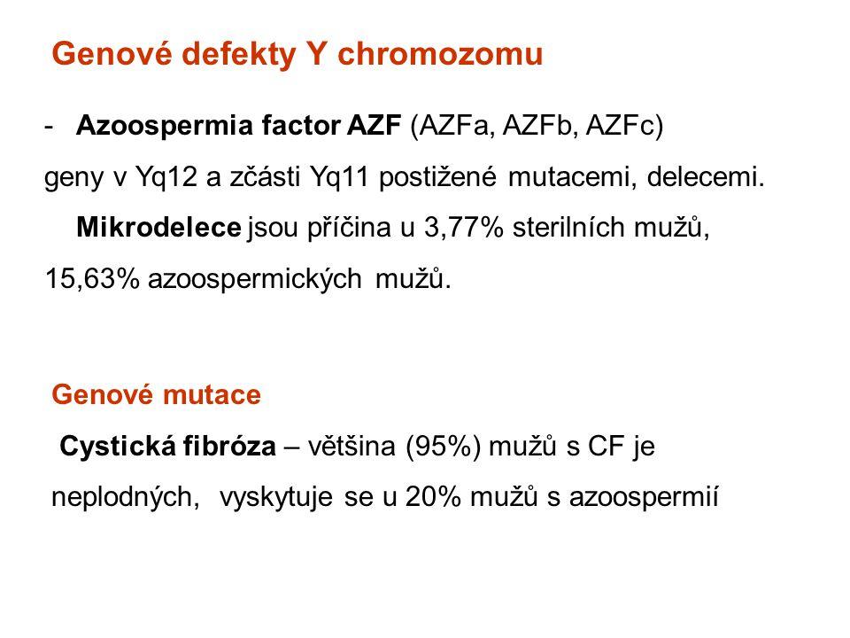 Genové defekty Y chromozomu