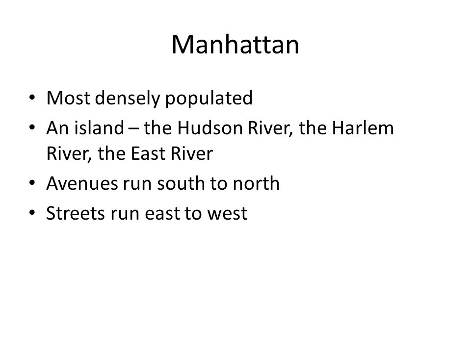Manhattan Most densely populated