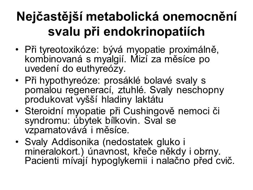 Nejčastější metabolická onemocnění svalu při endokrinopatiích