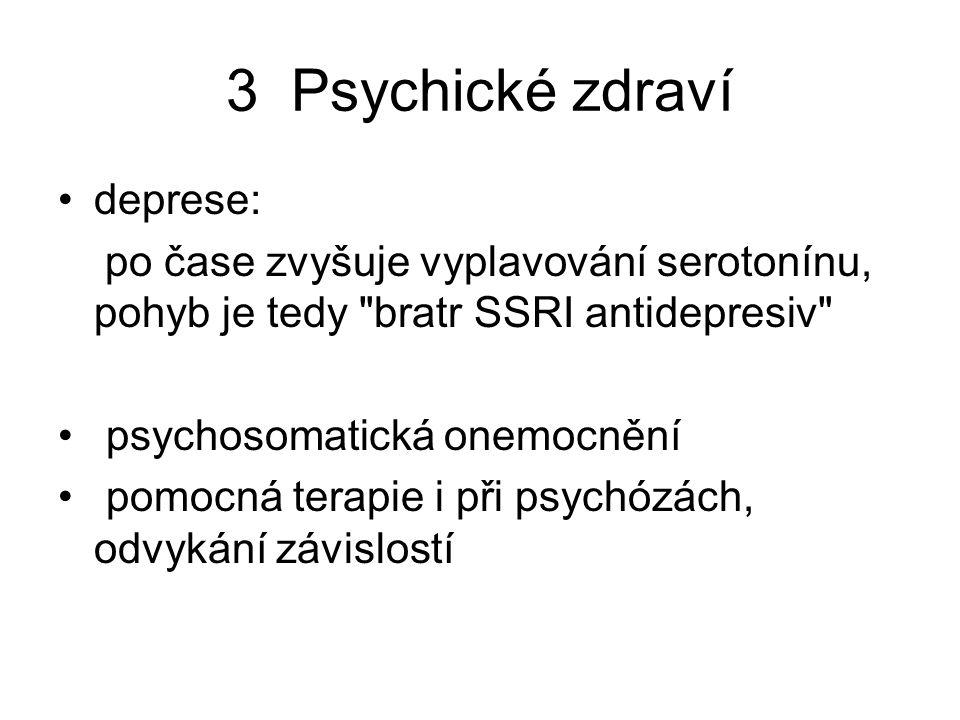 3 Psychické zdraví deprese: