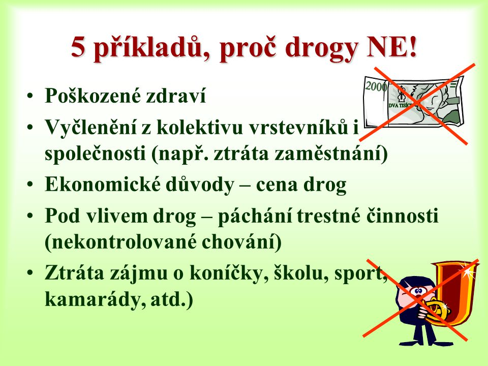5 příkladů, proč drogy NE! Poškozené zdraví