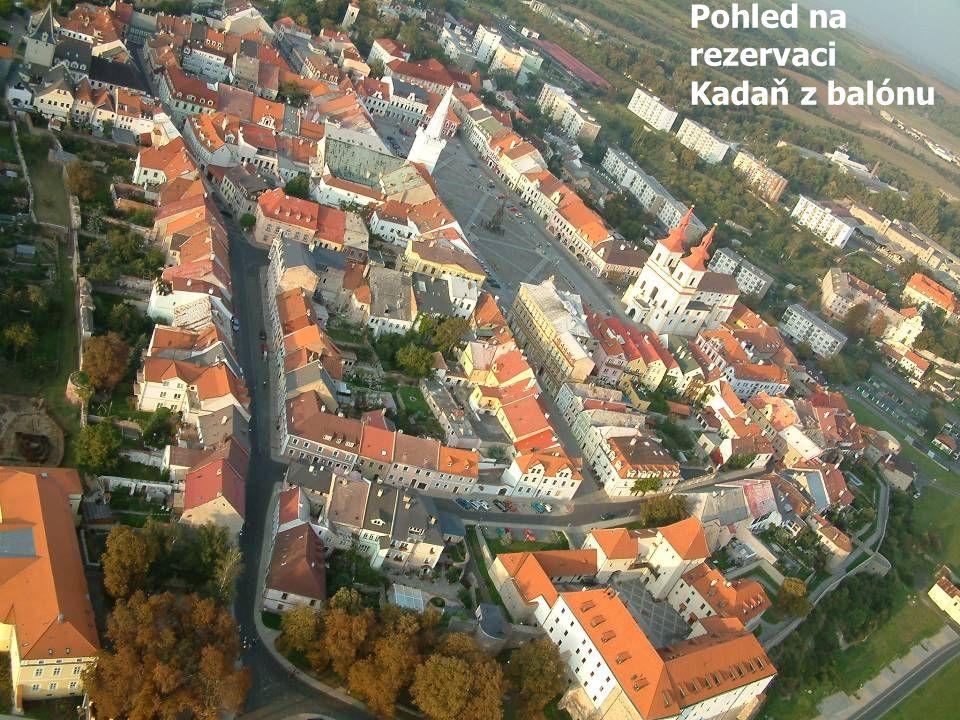rezervace rezervaci Kadaň z balónu Letecký snímek městské památkové