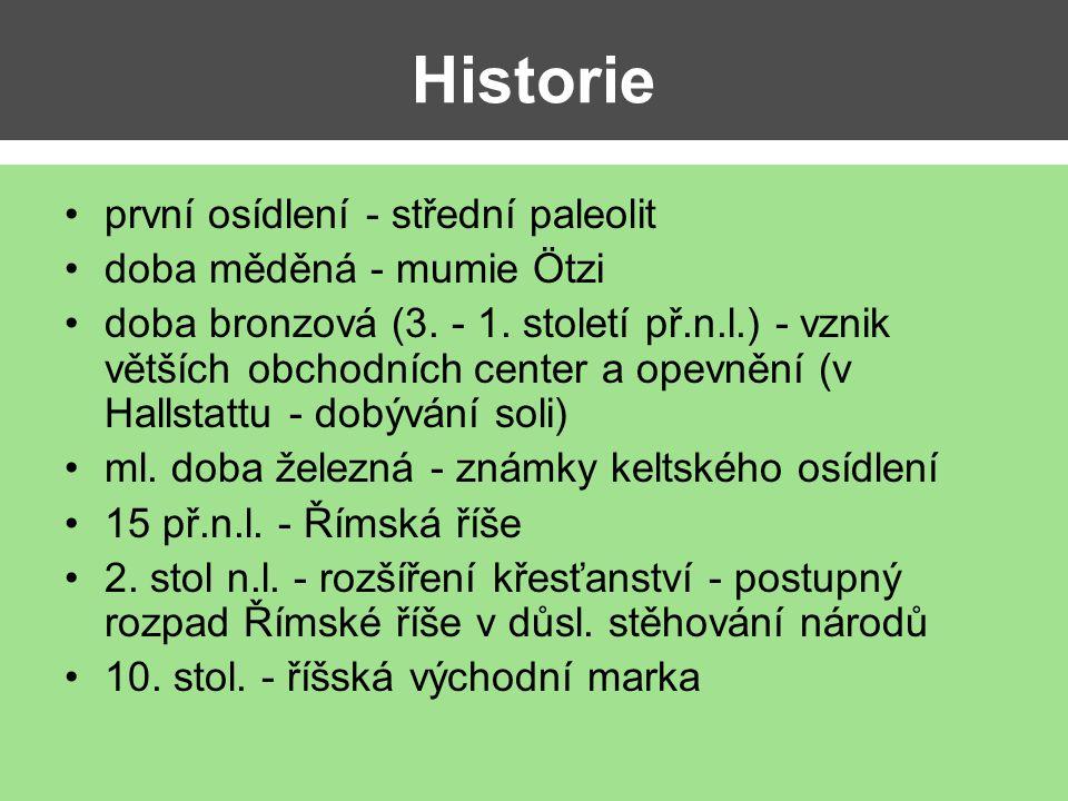 Historie první osídlení - střední paleolit doba měděná - mumie Ötzi