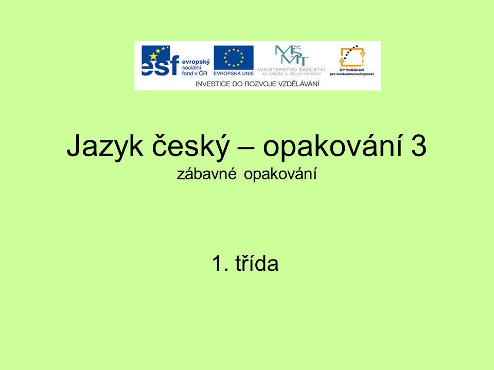 Jazyk český – opakování 3 zábavné opakování