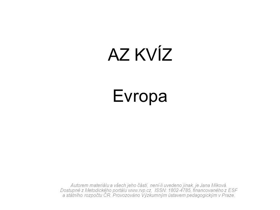 AZ KVÍZ Evropa