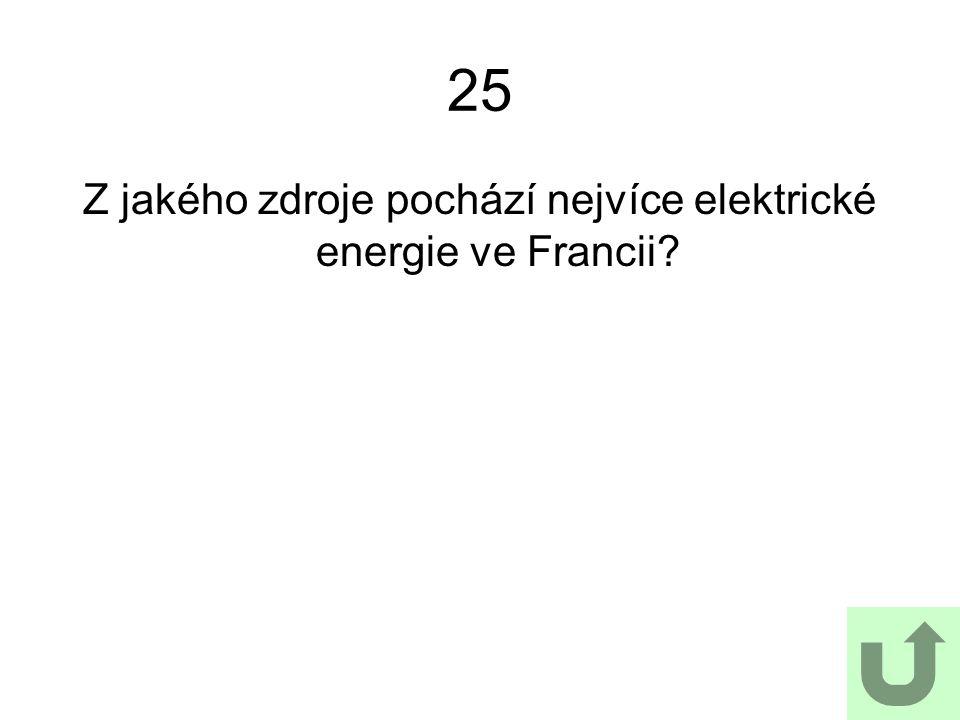 Z jakého zdroje pochází nejvíce elektrické energie ve Francii