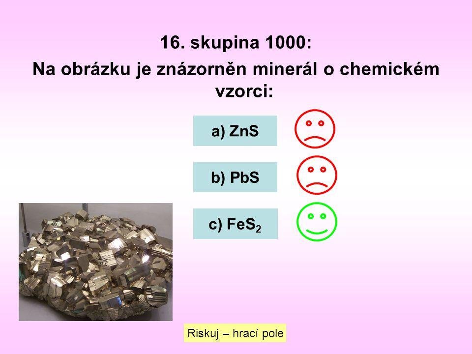 Na obrázku je znázorněn minerál o chemickém vzorci: