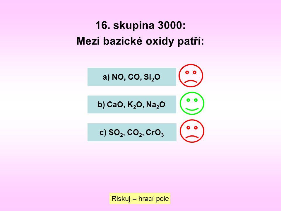 Mezi bazické oxidy patří: