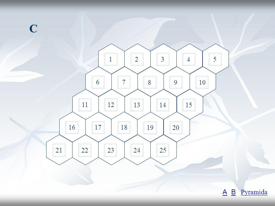 C 1 2 3 4 5 6 7 8 9 10 11 12 13 14 15 16 17 18 19 20 21 22 23 24 25 A B Pyramida