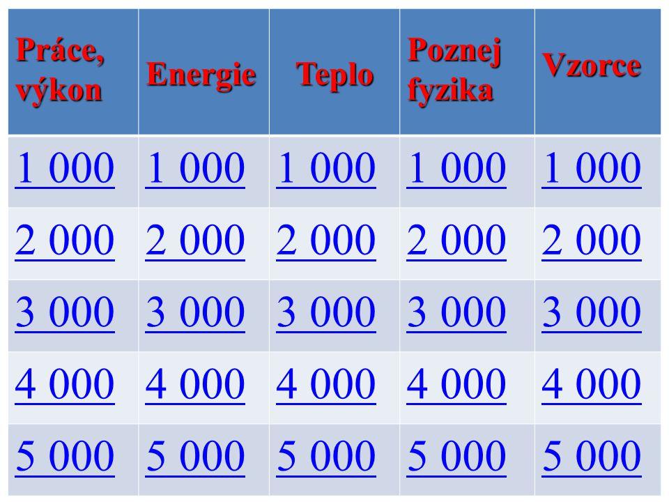 1 000 2 000 3 000 4 000 5 000 Práce, výkon Energie Teplo Poznej fyzika
