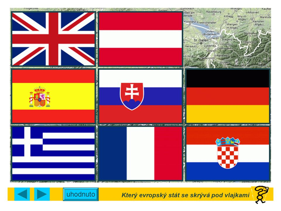 Který evropský stát se skrývá pod vlajkami
