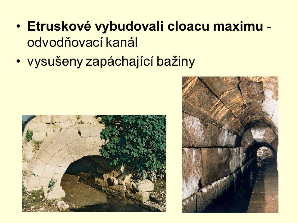 Etruskové vybudovali cloacu maximu - odvodňovací kanál