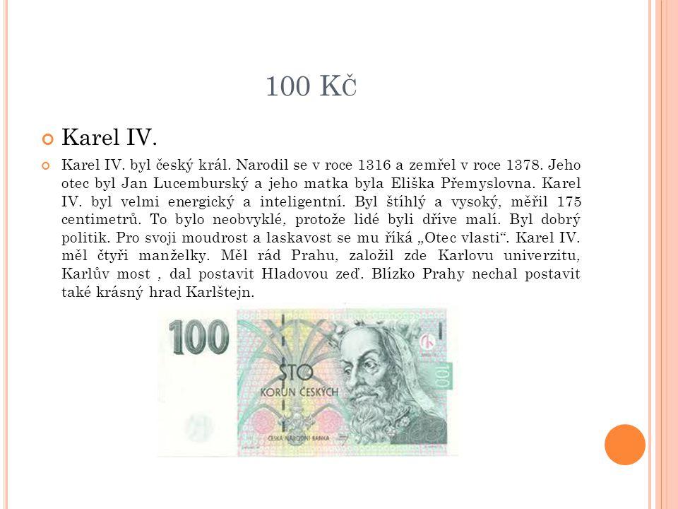 100 Kč Karel IV.