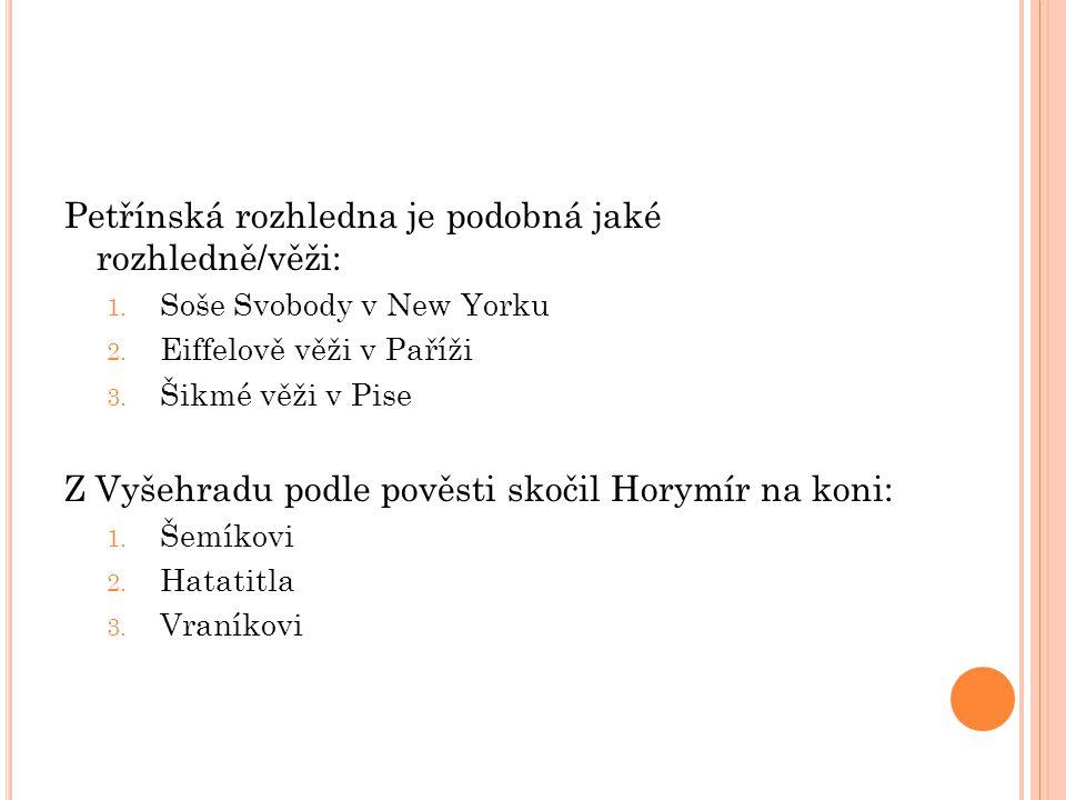 Petřínská rozhledna je podobná jaké rozhledně/věži: