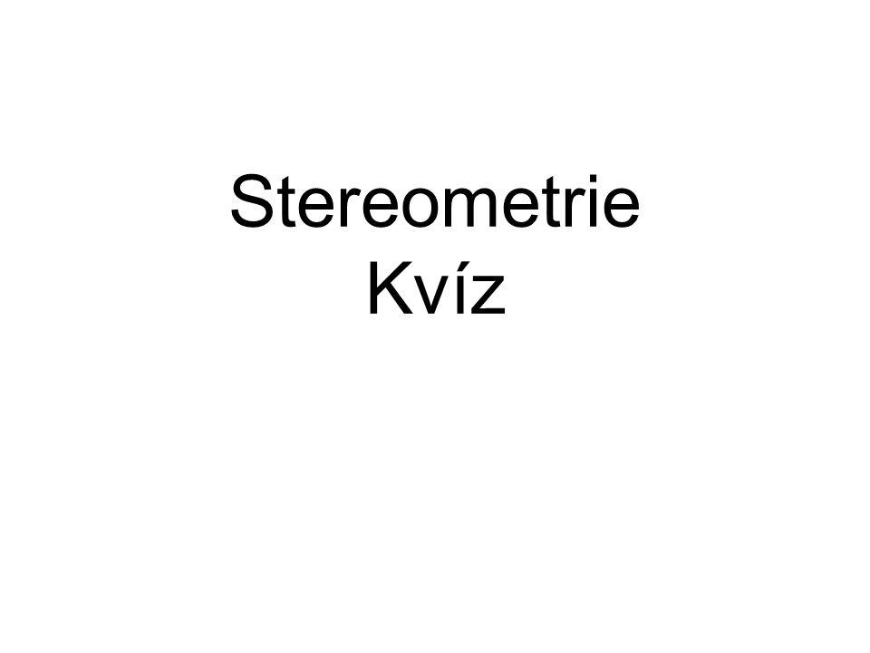 Stereometrie Kvíz