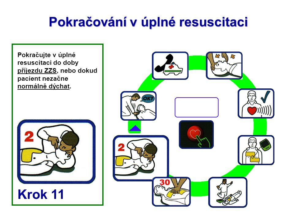 Pokračování v úplné resuscitaci