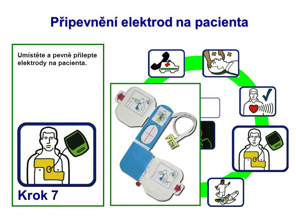 Připevnění elektrod na pacienta