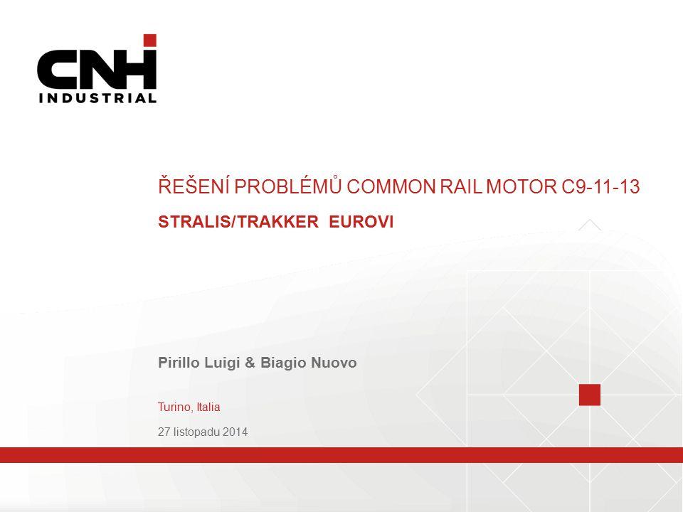 ŘEŠENÍ PROBLÉMŮ COMMON RAIL MOTOR C9-11-13