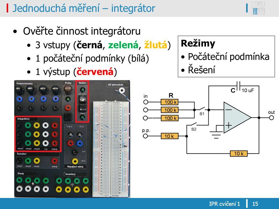 Jednoduchá měření – integrátor