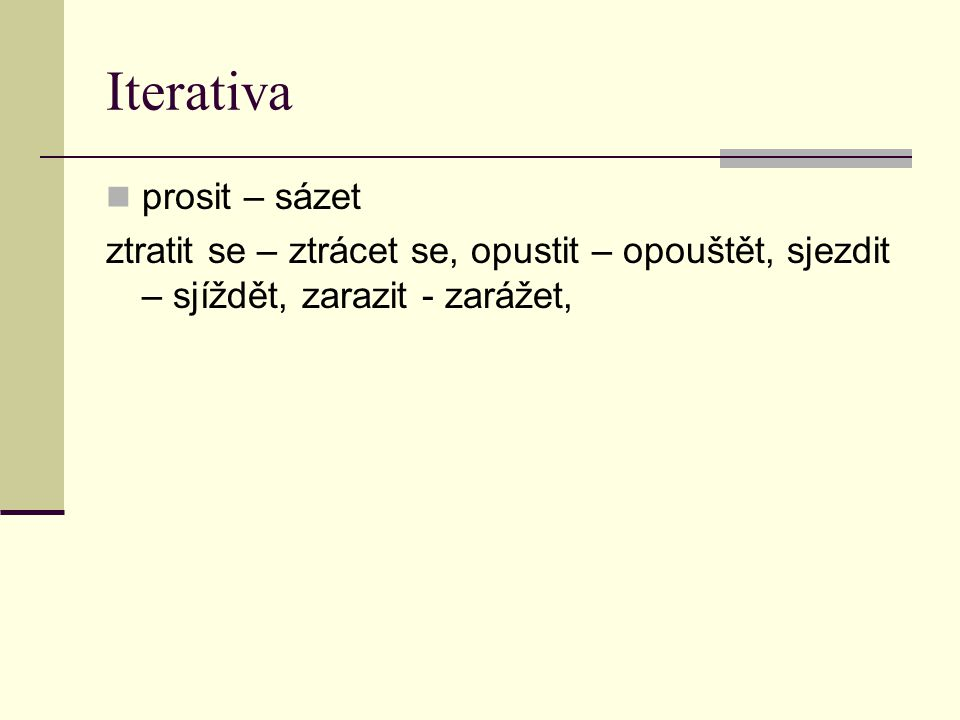 Iterativa prosit – sázet