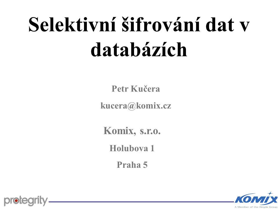 Selektivní šifrování dat v databázích
