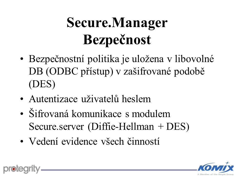 Secure.Manager Bezpečnost
