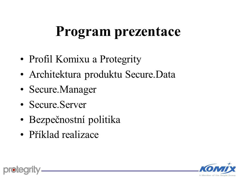 Program prezentace Profil Komixu a Protegrity