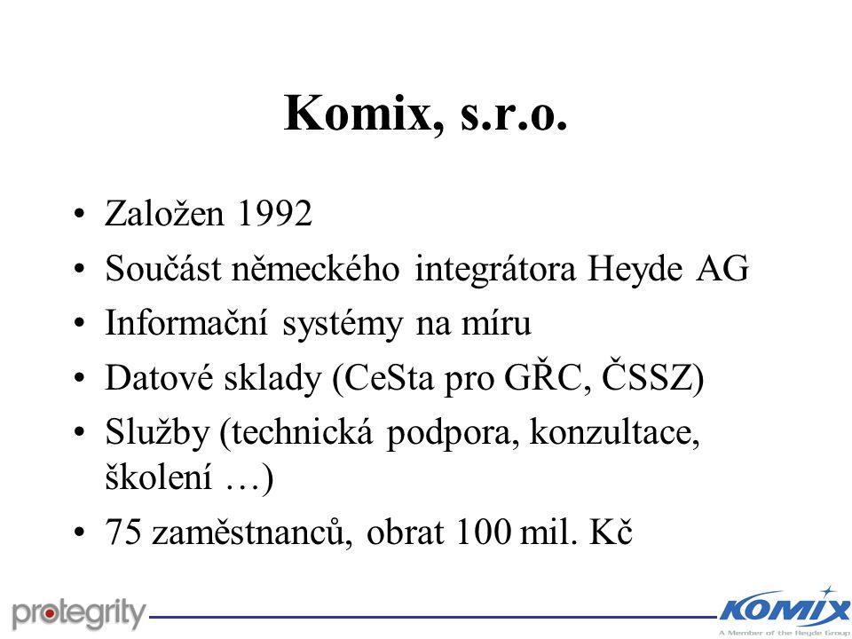 Komix, s.r.o. Založen 1992 Součást německého integrátora Heyde AG
