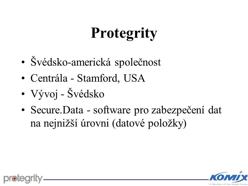 Protegrity Švédsko-americká společnost Centrála - Stamford, USA