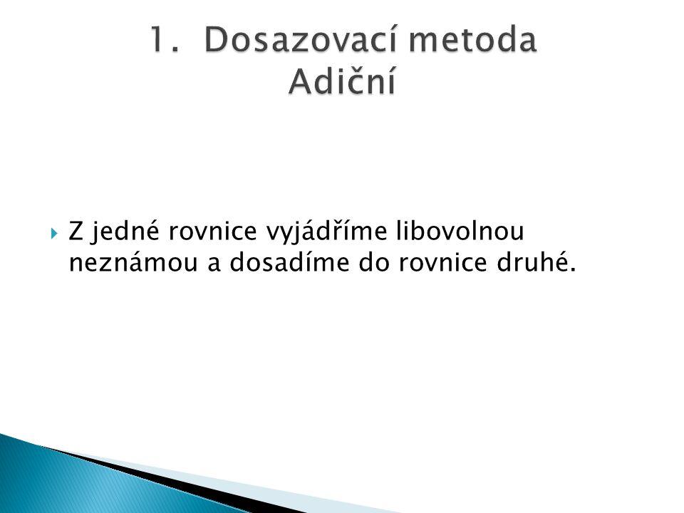 1. Dosazovací metoda Adiční
