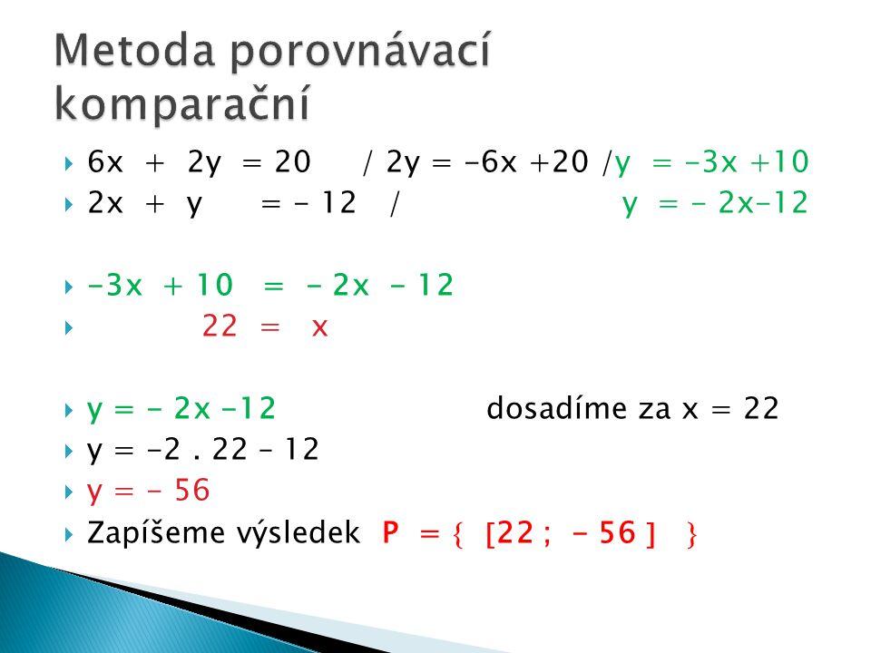 Metoda porovnávací komparační