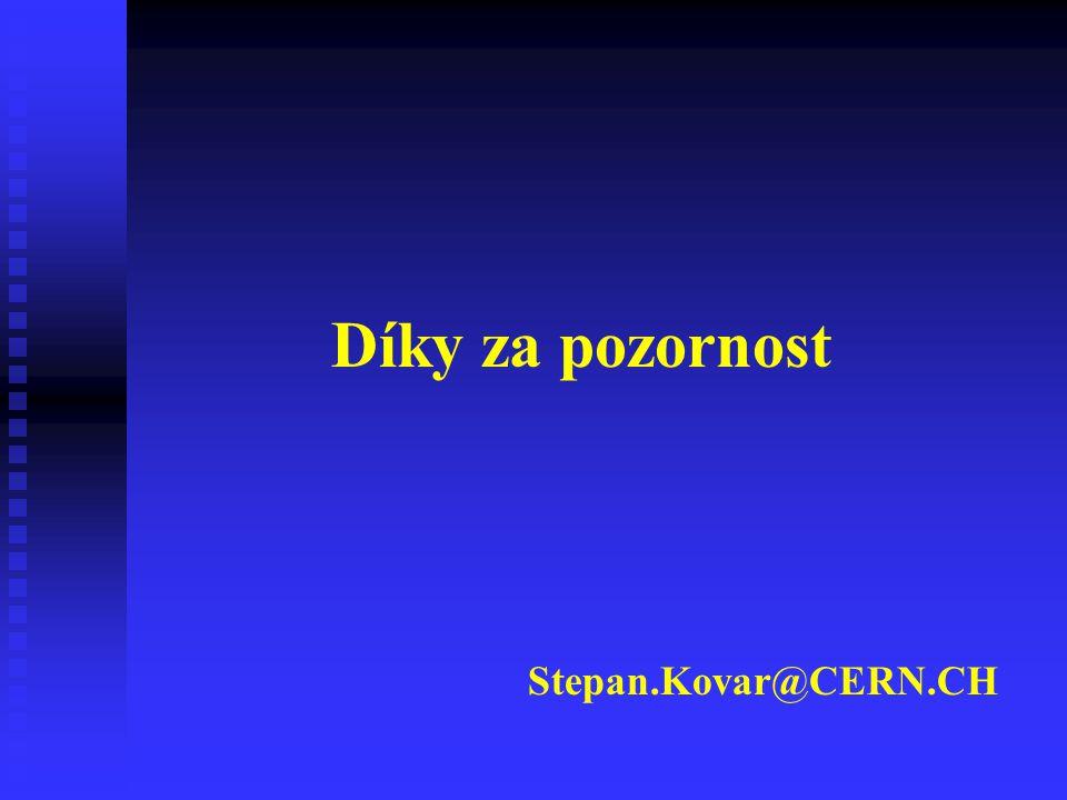 Díky za pozornost Stepan.Kovar@CERN.CH