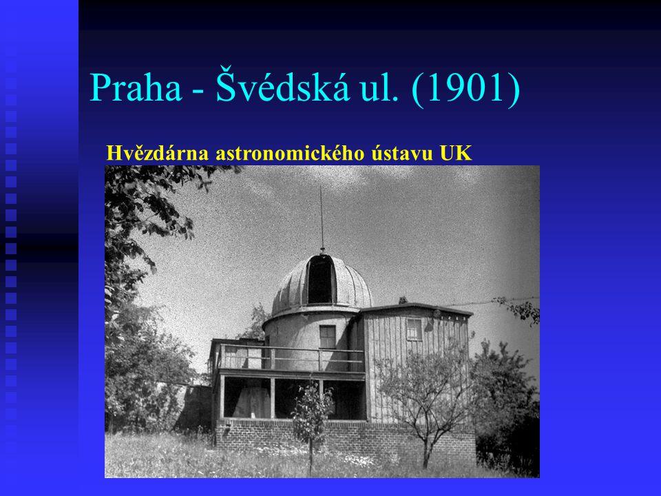 Praha - Švédská ul. (1901) Hvězdárna astronomického ústavu UK