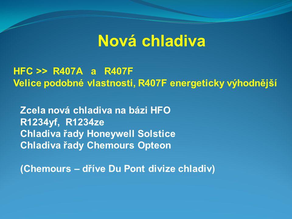 Nová chladiva HFC >> R407A a R407F