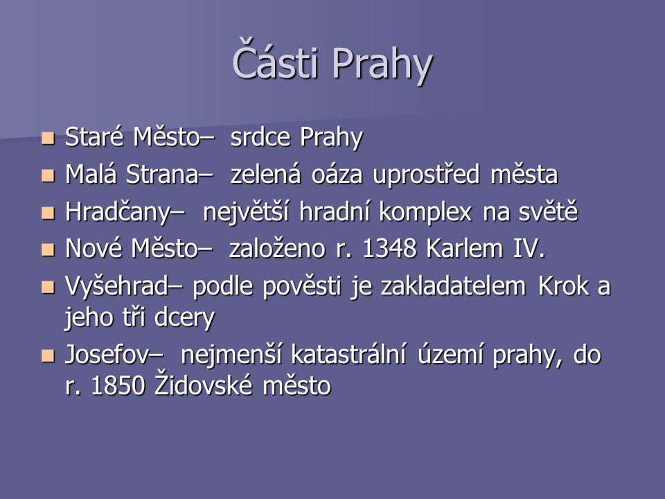 Části Prahy Staré Město– srdce Prahy