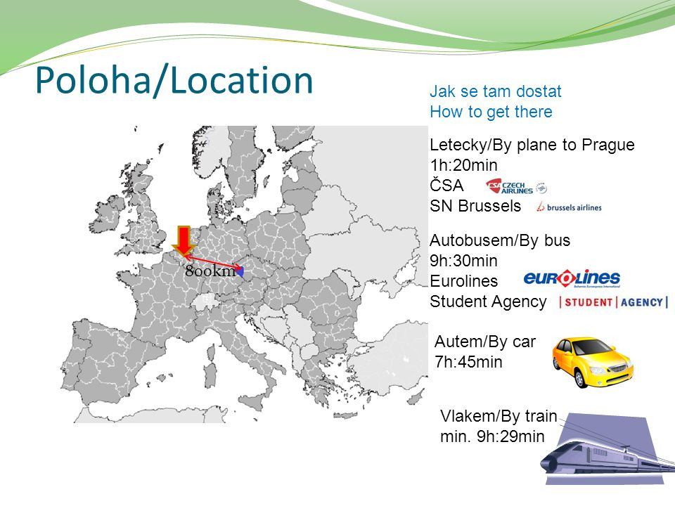 Poloha/Location Jak se tam dostat How to get there