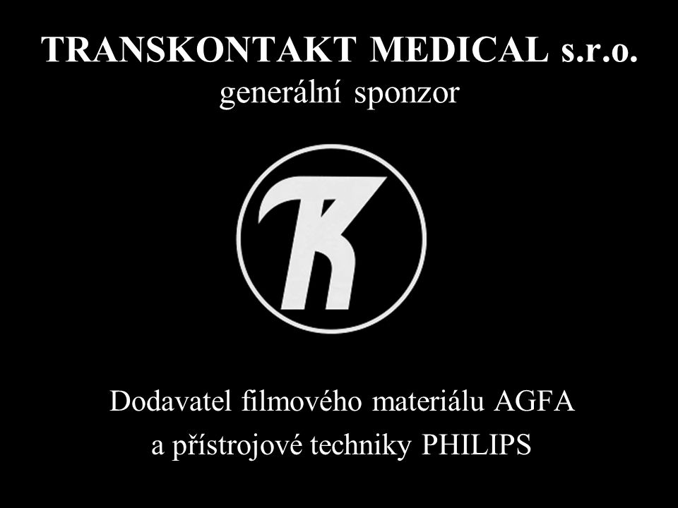 TRANSKONTAKT MEDICAL s.r.o. generální sponzor