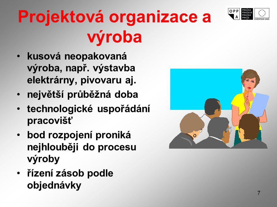 Projektová organizace a výroba