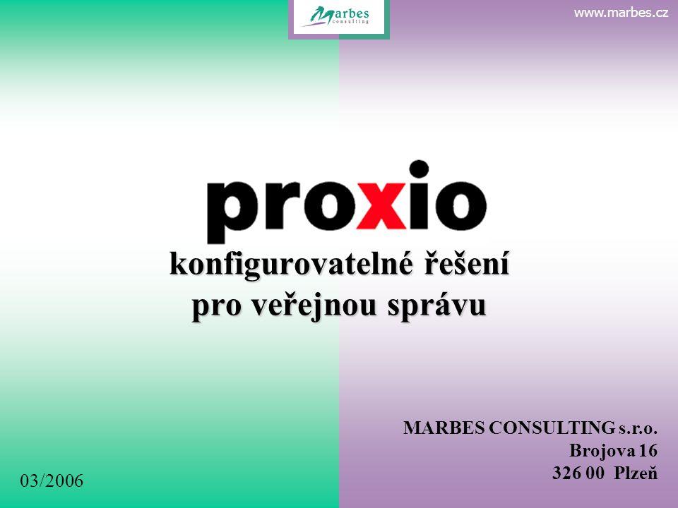 P R O X I O konfigurovatelné řešení pro veřejnou správu