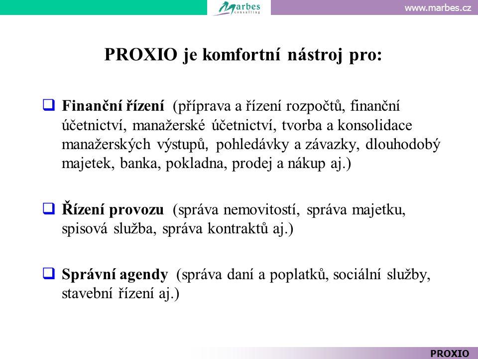 PROXIO je komfortní nástroj pro: