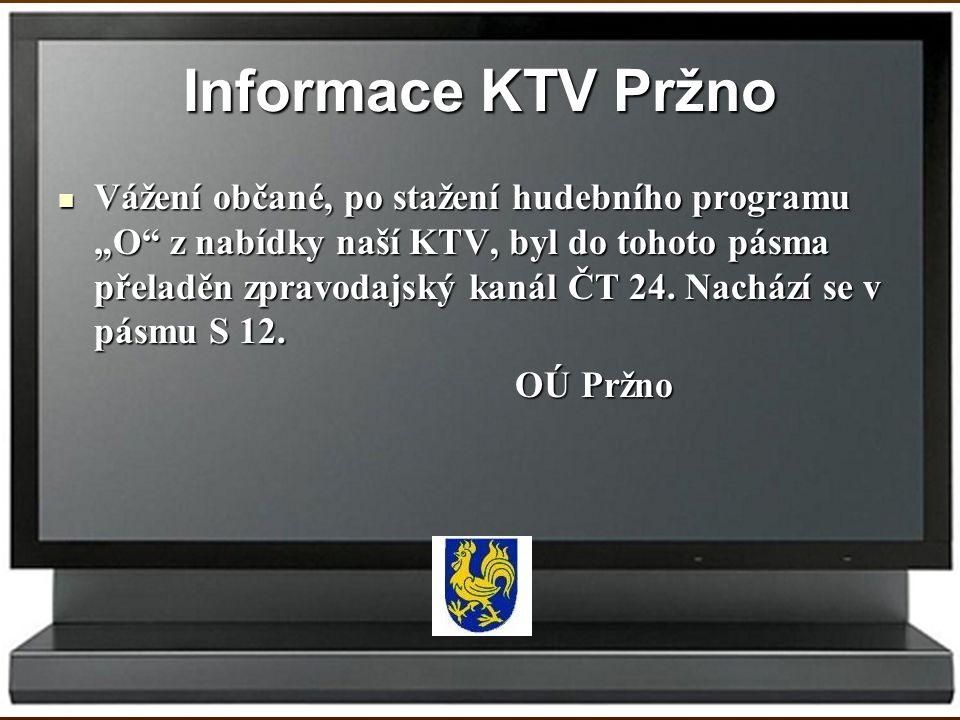 Informace KTV Pržno