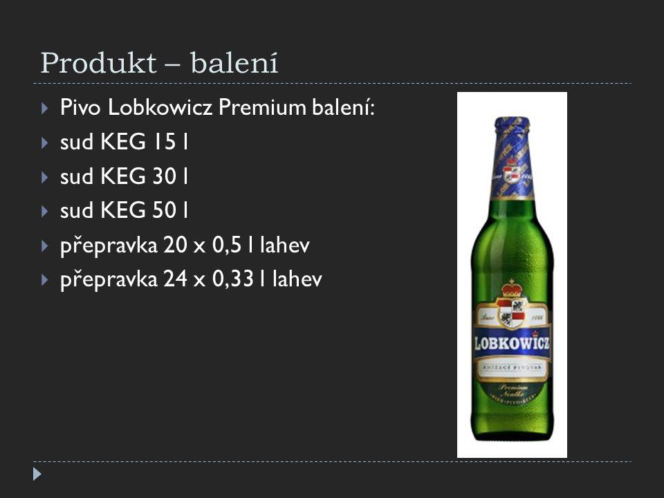 Produkt – balení Pivo Lobkowicz Premium balení: sud KEG 15 l