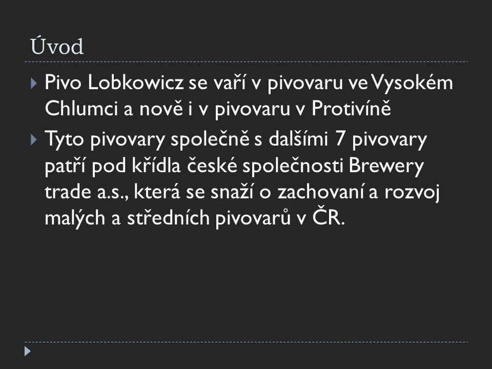 Úvod Pivo Lobkowicz se vaří v pivovaru ve Vysokém Chlumci a nově i v pivovaru v Protivíně.