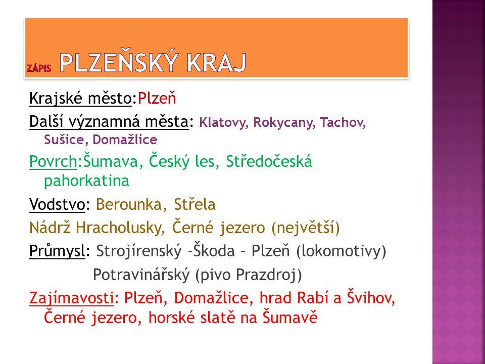 Zápis Plzeňský kraj
