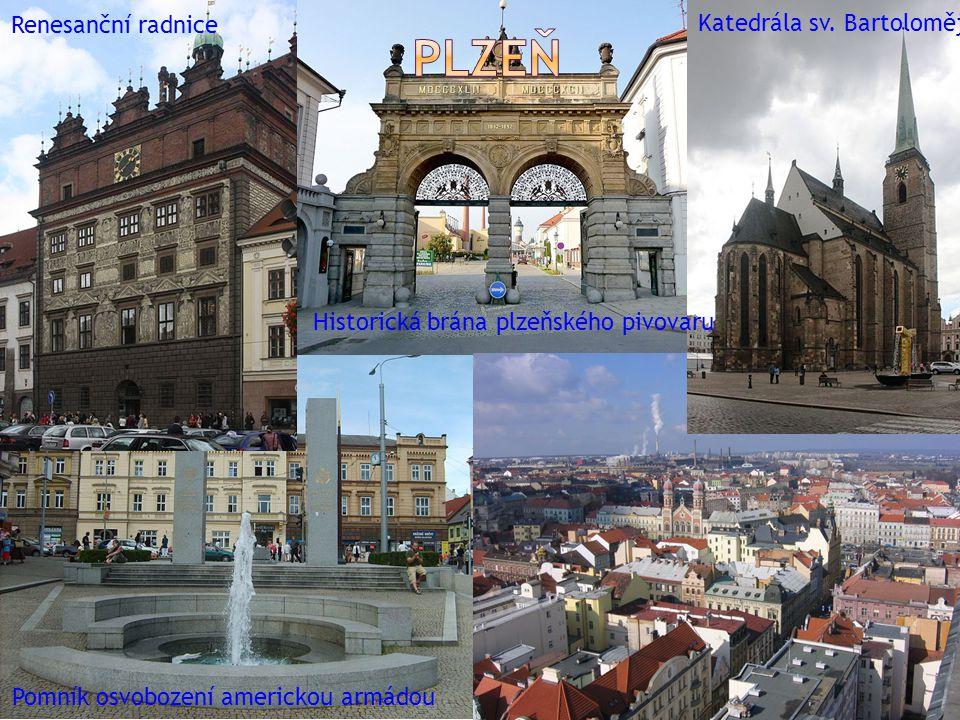 Plzeň Renesanční radnice Katedrála sv. Bartoloměje
