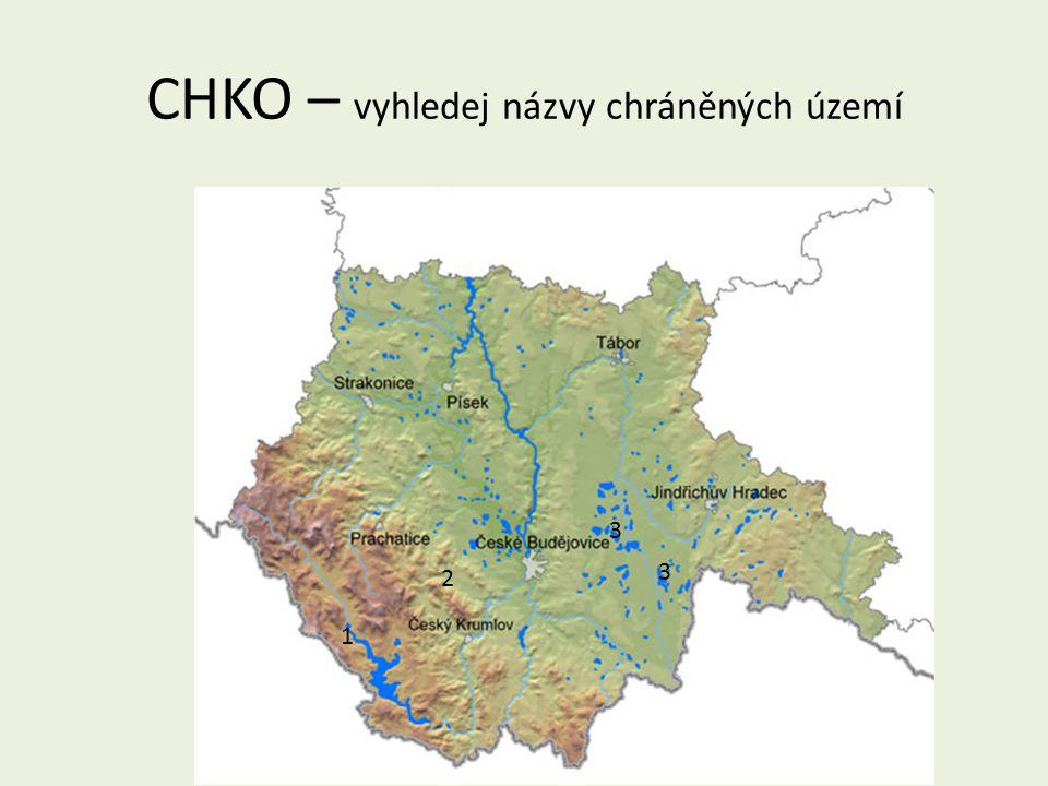 CHKO – vyhledej názvy chráněných území