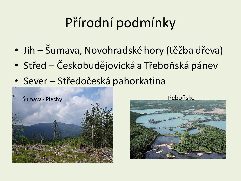 Přírodní podmínky Jih – Šumava, Novohradské hory (těžba dřeva)