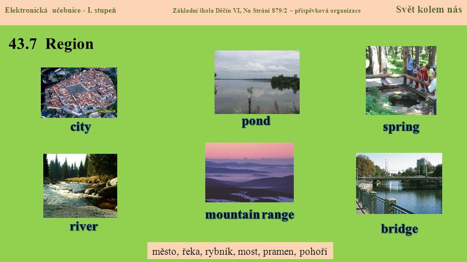 43.7 Region pond city spring mountain range river bridge